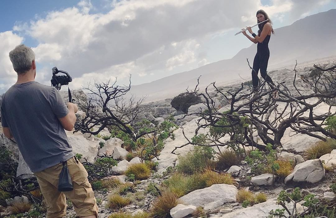 Cape Town videographer films for music video